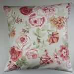 "Cushion Cover in Clarke and Clarke Genevieve Old Rose 14"" 16"" 18"" 20"" (1)"